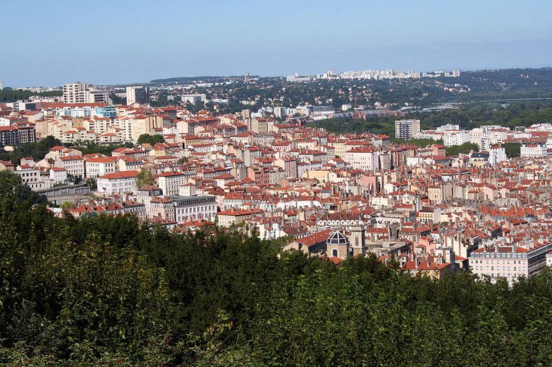 Lyon : Croix-Rousse vue de Fourvière